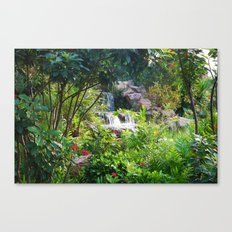 Jungle waterfall Canvas Print