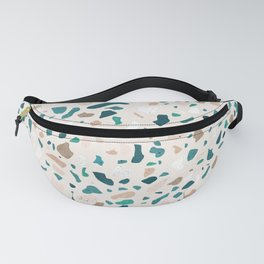 Terrazzo Turquoise Pattern Fanny Pack