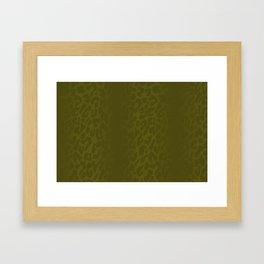Burnt Yellow Shadowed Leopard Print Framed Art Print