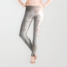 Your Vibe Attracts Your Tribe - Pacific Ocean Leggings