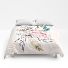 Forest Floral Pink by Nature Magick Comforters