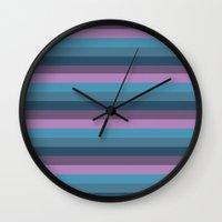 marine Wall Clocks featuring Marine by Alexandra Sas