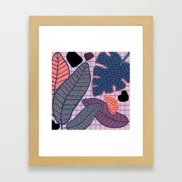 Palm & Monstera Leaves Framed Art Print