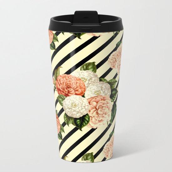 Chrysanthemum Rain Metal Travel Mug