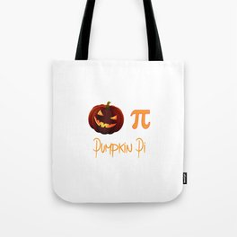 Pumpkin Pi Halloween Math Circle Ghost Costume Tote Bag