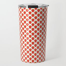 Red Strawberry Pattern Travel Mug