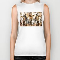 giraffes Biker Tanks featuring Giraffes by RIZA PEKER