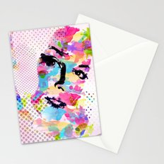 Abstract portrait Stationery Cards