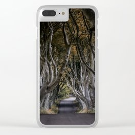 Dark Hedges Alley Clear iPhone Case