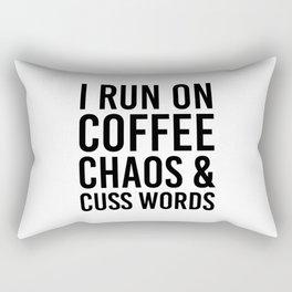 I Run On Coffee, Chaos & Cuss Words Rectangular Pillow