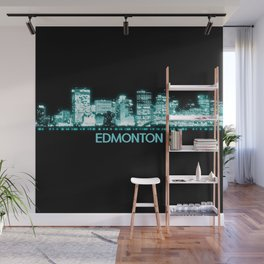 Edmonton Skyline Wall Mural