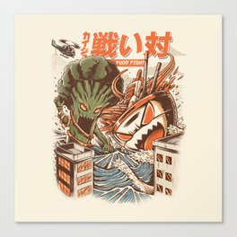 Kaiju Food Fight Canvas Print