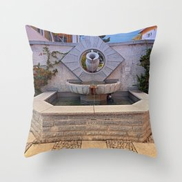 The village fountain of Kleinzell   architectural photography Throw Pillow