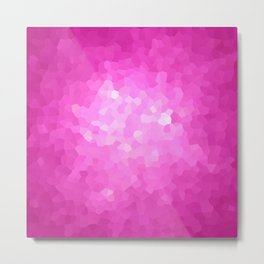 Pink and White Modern Abstract Geometric Shape Metal Print