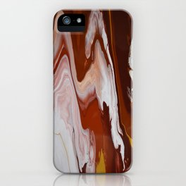 Red Burgundy Fluid Liquid Marble Flow Painting - Lava Flow II iPhone Case