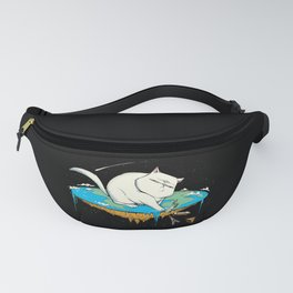 Flat Earth Cat Fanny Pack