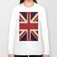 british Long Sleeve T-shirts featuring BRITISH FLAG by shannon's art space
