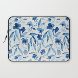 Prussian Floral Laptop Sleeve