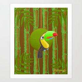 Happy Toucan! Art Print