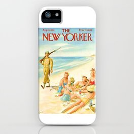 Vintage New Yorker Cover - Circa 1943 iPhone Case