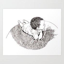 A cute beanbag-potato Art Print