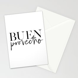 BUEN PROVECHO POSTER, Bon Appetit Sign,Good Appetite,Food Quote,Kitchen Decor, Kitchen Sign,Bar Deco Stationery Cards
