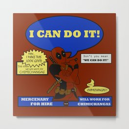 I can do it!!!  Metal Print
