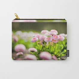 Bellis perennis pomponette called daisy Carry-All Pouch