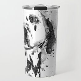 Black And White Half Faced Dalmatian Dog Travel Mug