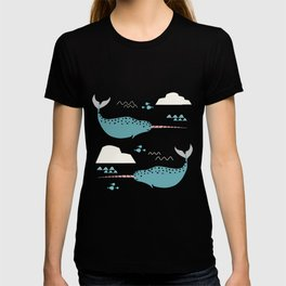 Narwhal pink T-shirt