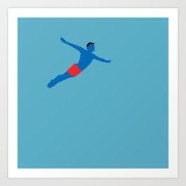 Flying man Art Print