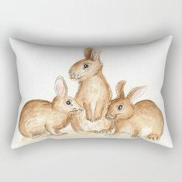 Bunny Friends Rectangular Pillow