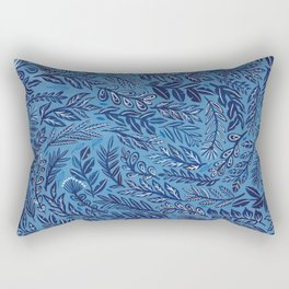 Blue Branches Rectangular Pillow