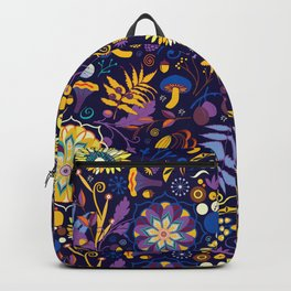 Ripe autumn – purple and yellow Backpack