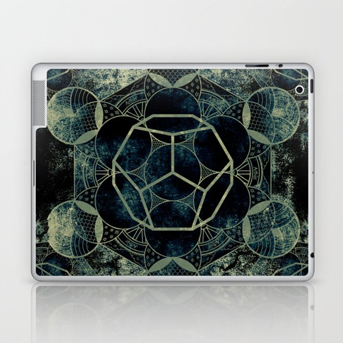 Sacred Geometry for your daily life -  Platonic Solids - ETHER Laptop & iPad Skin