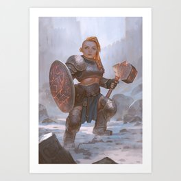 Dwarven Forge Cleric Art Print