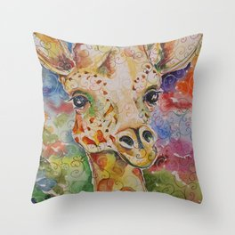 Little Delight Watercolor and Ink by Kit Sunderland Throw Pillow