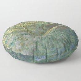 Water Lily Pond Claude Monet Floor Pillow