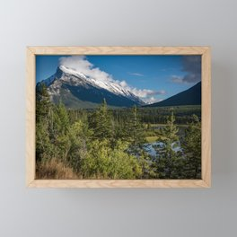 View of Mount Rundle Framed Mini Art Print