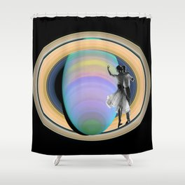 Fred, Audrey & Saturn  Shower Curtain