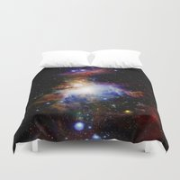 nebula Duvet Covers featuring Orion NebulA Colorful Full Image by 2sweet4words Designs