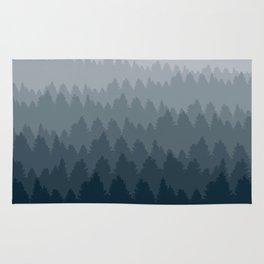 Blue Ombré Forest Rug