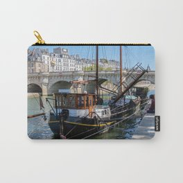 Old barge near the Pont Neuf - Paris Carry-All Pouch