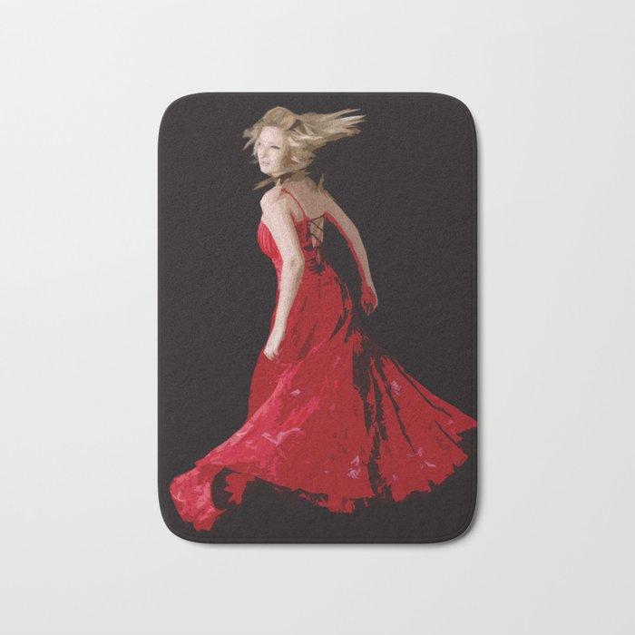 Red Dress Bath Mat