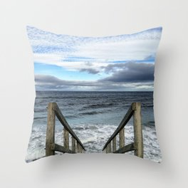 A Way to the Sea Throw Pillow