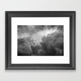 Grainy Cloud Framed Art Print