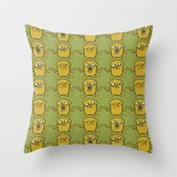 jake Throw Pillows featuring JAKE by SuperPills