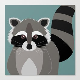 Raccoon Rascal Canvas Print