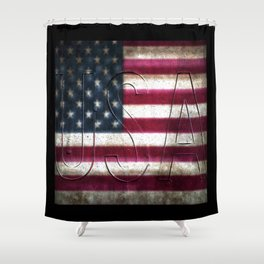 USA in Colour Shower Curtain