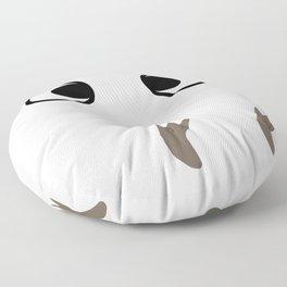 White Troll ~ My Neighbor Troll Floor Pillow